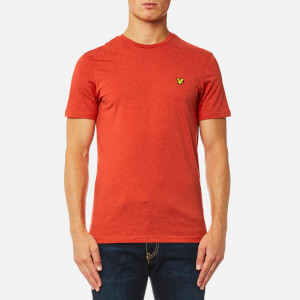 Lyle & Scott Men's Crew Neck T-Shirt - Flame Red Marl