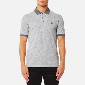 Lyle & Scott Men's Oxford Slub Polo Shirt - Mid Grey