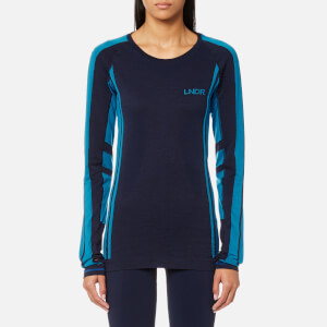 LNDR Women's Colours Long Sleeve Seamless Tech T-Shirt - Navy Marl