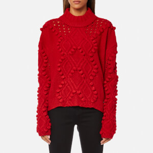 Guess Women's Long Sleeve Vanda Sweatshirt - Tulip Red