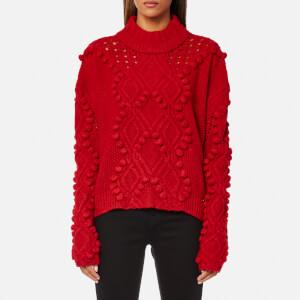 Guess Women's Long Sleeve Vanda Sweatshirt - Tulip Red