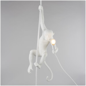 Seletti Ceiling Monkey Lamp - White