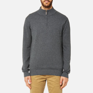 Joules Men's Half Zip Funnel Neck Jumper - Dark Grey Marl