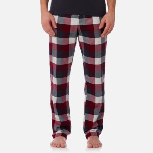 Joules Men's Checked Lounge Trousers - Rugby Red Check