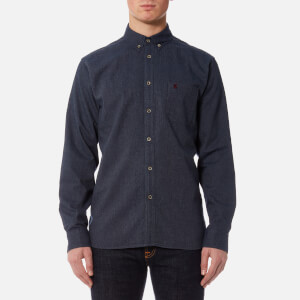Joules Men's Barbrook Classic Fit Flannel/Texture Shirt - Navy