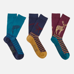 Joules Men's 3 Pack Bamboo Socks - Multi