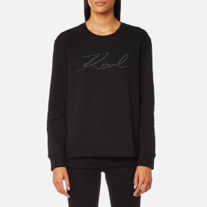 Karl Lagerfeld Women's Karl Pleated Effect Sweatshirt - Black