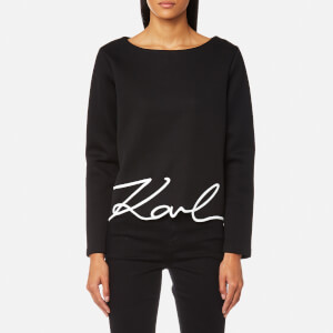 Karl Lagerfeld Women's Karl Signature Neoprene Top - Black