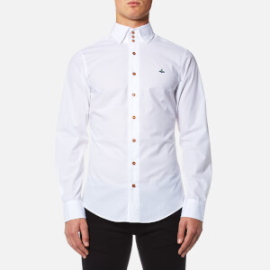 Vivienne Westwood MAN Men's Stretch Poplin Krall Three Button Shirt - White