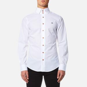 Vivienne Westwood Men's Stretch Poplin Krall Three Button Shirt - White