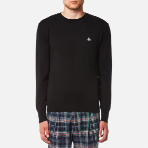 Vivienne Westwood MAN Men's Classic Crew Neck Knitted Jumper - Black