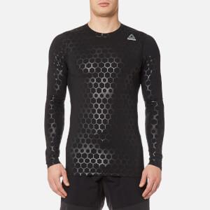 Reebok Men's Hexawarm Long Sleeve Compression T-Shirt - Black