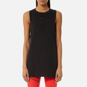 Reebok Women's Tank Top with Ripped Detailing - Black