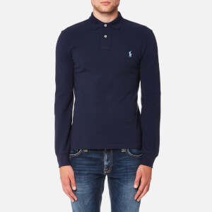 Polo Ralph Lauren Men's Slim Fit Long Sleeve Polo Shirt - Newport Navy