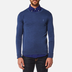 Polo Ralph Lauren Men's Merino Wool Crew Neck Jumper - Shale Blue Heather