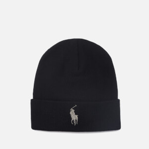 Polo Ralph Lauren Men's Cotton Beanie Hat - Black