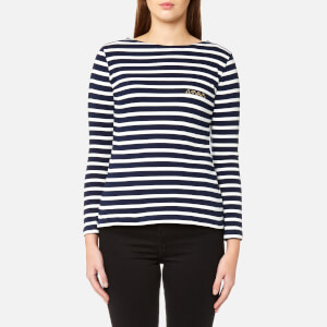 Maison Labiche Women's Mariniere Amour Long Sleeve T-Shirt - Blue/White