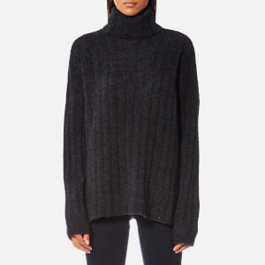 Samsoe & Samsoe Women's Nor T-Neck Jumper - Black Melange