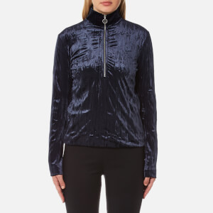 Samsoe & Samsoe Women's Ziva Zip Turtle Neck Top - Dark Sapphire