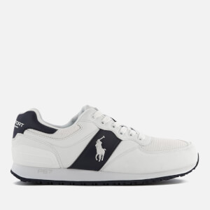 Polo Ralph Lauren Men's Slaton Pony Tech Leather/Tech Suede Trainers - White/Newport Navy