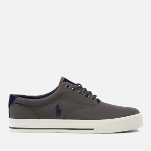 Polo Ralph Lauren Men's Vaughn Canvas/Tattersall Trainers - Coal