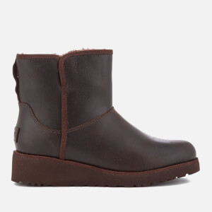 UGG Women's Kristin Classic Slim Leather Sheepskin Boots - Stout