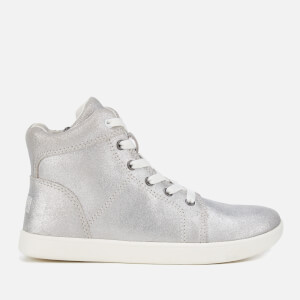 UGG Kids' Schyler Metallic Suede Hi-Top Trainers - Silver