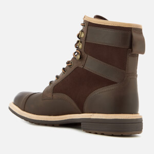 UGG Men's Magnusson Grain Leather Lace Up Boots - Grizzly: Image 4