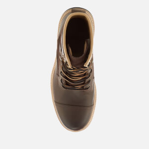 UGG Men's Magnusson Grain Leather Lace Up Boots - Grizzly: Image 3