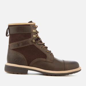 UGG Men's Magnusson Grain Leather Lace Up Boots - Grizzly