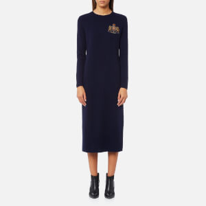 Polo Ralph Lauren Women's Crew Neck Dress - Navy