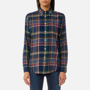 Polo Ralph Lauren Women's Georgia Shirt - Navy/Green