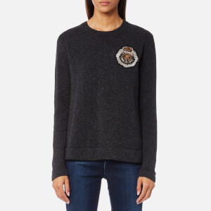 Polo Ralph Lauren Women's Long Sleeve Jumper with Crest - Grey