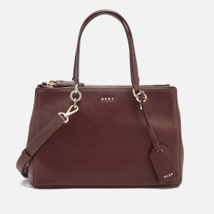 DKNY Women's Chelsea Pebbled Leather Small Shopper Bag - Cordovan