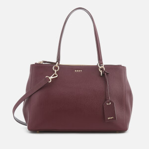 DKNY Women's Chelsea Pebbled Leather Large Shopper Bag - Cordovan