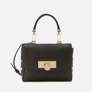DKNY Women's Chelsea Pebbled Leather Mini Flap Shoulder Bag - Black