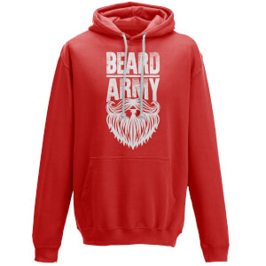 Beard Army Men's Red Insignia Hoodie