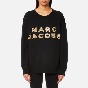 Marc Jacobs Women's Oversized Logo Sweatshirt - Black