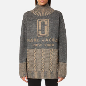 Marc Jacobs Women's Turtleneck Sweatshirt - Grey/Camel