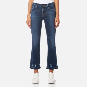 J Brand Women's Selena Mid Rise Crop Bootcut Jeans - Tonic