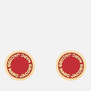 Marc Jacobs Women's Enamel Logo Disc Studs - Bisou Red