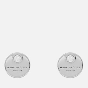 Marc Jacobs Women's MJ Coin Studs - Crystal/Silver
