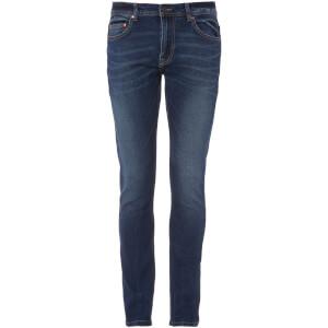 Troy Men's Loop Washed Slim Fit Jeans - Dark Blue Denim