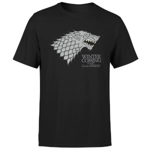 Game of Thrones Stark Winter Is Coming T-Shirt - Zwart