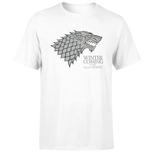 T-Shirt Homme Game of Thrones Stark Winter Is Coming - Blanc
