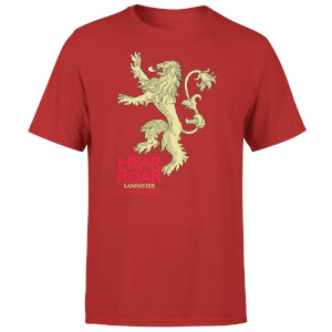 T-Shirt Homme Game of Thrones Lannister Hear Me Roar - Rouge
