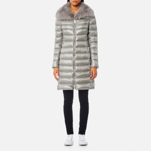 Herno Women's Woven Down Coat - Grey