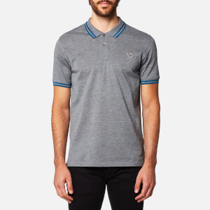 PS by Paul Smith Men's Zebra Logo Tipped Polo Shirt - Grey