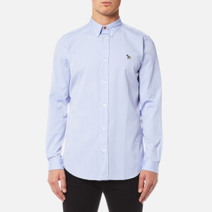 PS by Paul Smith Men's Zebra Logo Long Sleeve Shirt - Blue