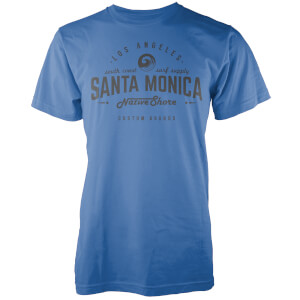 T-Shirt Homme Santa Monica Native Shore - Bleu